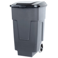 Carlisle 34505023 Bronco 50 Gallon Gray Rolling Container