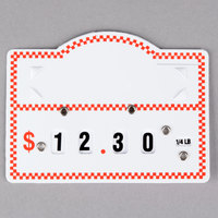 Deli Tag Wheel with Insert - Red Checkered