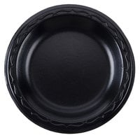 Genpak LAM09-3L Elite 8 7/8 inch Black Laminated Foam Plate - 500/Case