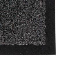 Notrax 130 Sabre 3' x 60' Gunmetal Roll Carpet Entrance Floor Mat - 3/8 inch Thick