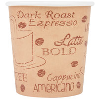 Choice 4 oz. Caf&#233&#x3b; Print Poly Paper Hot Cup - 1000/Case