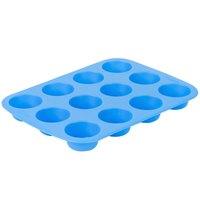 Wilton 2105-4829 Easy-Flex Blue Silicone 12 Compartment Mini Muffin / Dessert Mold