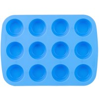 Wilton 2105-4829 Easy-Flex 12 Cup Silicone Mini Muffin Mold - 10 inch x 7 1/2 inch
