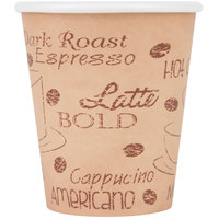 Choice 10 oz. Caf&#233&#x3b; Print Poly Paper Hot Cup - 1000/Case