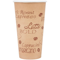 Choice 20 oz. Caf&#233&#x3b; Print Poly Paper Hot Cup - 600/Case