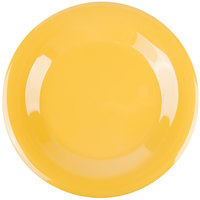 GET WP-7-TY Diamond Mardi Gras 7 1/2 inch Tropical Yellow Wide Rim Round Melamine Plate - 48/Case