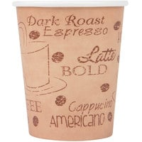 Choice 8 oz. Café Print Poly Paper Hot Cup - 1000/Case