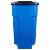 Carlisle 34505014 Bronco 50 Gallon Blue Rolling Container