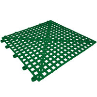 Cactus Mat 2554-HGT Dri-Dek 12 inch x 12 inch Hunter Green Vinyl Interlocking Drainage Floor Tile - 9/16 inch Thick