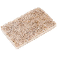 3M 97030 Scotch-Brite 4 1/2 inch x 2 11/16 inch Greener Clean Natural Fiber Non-Scratch Scrub Sponge - 12/Case