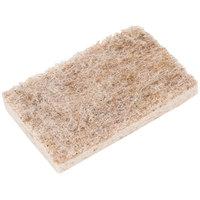 3M 97030 Scotch-Brite™ 4 1/2 inch x 2 11/16 inch Greener Clean Natural Fiber Non-Scratch Scrub Sponge - 12/Case