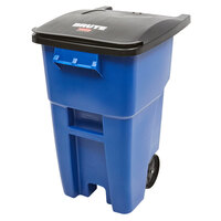 Rubbermaid FG9W2700BLUE Brute 50 Gallon Blue Wheeled Trash Can with Lid