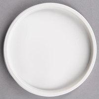 Choice Microwavable White Plastic Round Deli Lid - 500/Case