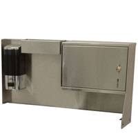 Advance Tabco TA-MSC-1 Bolt-On Towel Dispenser, Soap Dispenser, and Drip Tray Unit
