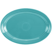 Homer Laughlin 456107 Fiesta Turquoise 9 5/8 inch Small Oval Platter   - 12/Case