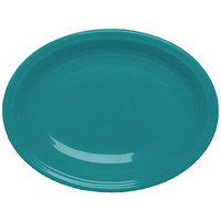 Homer Laughlin 456107 Fiesta Turquoise 9 5/8 inch Platter - 12 / Case