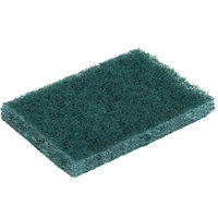 3M 9650 Scotch-Brite 4 1/2 inch x 3 inch General Purpose Green Scouring Pad - 80/Case