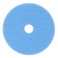 3M 3050 Hi-Performance 17 inch Sky Blue Burnishing Floor Pad - 5/Case