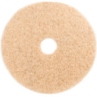3M 3500 20 inch Natural Blend Tan Heavy Duty Burnishing Floor Pad - 5/Case