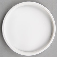 Choice Microwavable White Plastic Round Deli Lid - 50/Pack