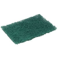 3M 86CC Scotch-Brite™ 9 inch x 6 inch Heavy-Duty Green Scouring Pad - 10/Pack