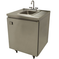 Advance Tabco SHK-MSC-31C 31 inch Portable Self-Contained Stainless Steel Hand Sink Cart with Deck Mount Faucet