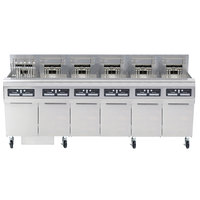 Frymaster FPRE614TC-SD High Efficiency Electric Floor Fryer with (6) 50 lb. Full Frypots and CM3.5 Controls - 240V, 3 Phase, 14kW