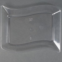 Fineline Wavetrends 1405-CL 5 1/2 inch x 7 1/2 inch Clear Plastic Dessert Plate - 120 / Case