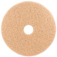 3M 3400 20 inch Tan Burnishing Floor Pad - 5/Case