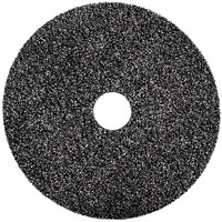 3M 7300 10 inch Black High Productivity Stripping Floor Pad - 5/Case