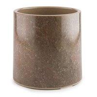 GET ML-285-SLATE Stone-Mel Round Melamine Pedestal - 6 inch x 6 inch