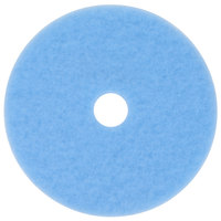 3M 3050 Hi-Performance 24 inch Sky Blue Burnishing Floor Pad - 5/Case