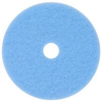 3M 3050 Hi-Performance 19 inch Sky Blue Burnishing Floor Pad - 5/Case