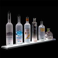 Beverage-Air LS5-60L 60 inch Liquor Shelf with Built-In LED Lighting - 4 1/2 inch Deep