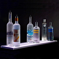 Beverage-Air LS6-72L-DW 72 inch Liquor Shelf with Built-In LED Lighting - 9 inch Deep