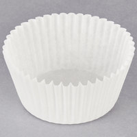 Hoffmaster 610050 2 1/4 inch x 1 3/8 inch White Fluted Baking Cup - 10000/Case