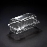 Dart Solo C19UT1 StayLock 8 1/2 inch x 4 1/2 inch x 3 5/8 inch Clear Hinged Plastic Small High Dome Oblong Container - 250 / Case