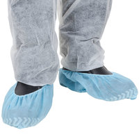 Blue Polypropylene Shoe Cover with Non Skid Bottom - Large   - 400/Case