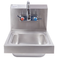 Advance Tabco 7-PS-23 Super Saver Hand Sink with Splash Mount Faucet - 12 inch x 16 inch