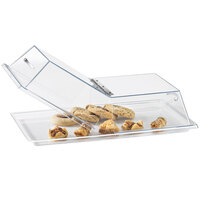 Cal-Mil 334-12 Clear Standard Rectangular Bakery Tray Cover with Center Hinge - 12 inch x 18 inch x 4 inch