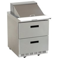 Delfield D4427N-9M 27 inch 2 Drawer Mega Top Refrigerated Sandwich Prep Table