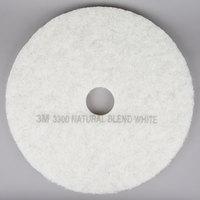 3M 3300 21 inch Natural Blend White Light Duty Burnishing Floor Pad - 5/Case