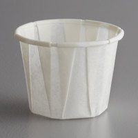 Paper .75 oz. Compostable Souffle / Portion Cup   - 250/Pack