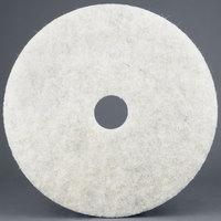 3M 3300 19 inch Natural Blend White Light Duty Burnishing Floor Pad - 5/Case
