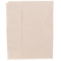 Morcon D1217-KFT Kraft Natural Off-Fold Full-Fold 1-Ply Dispenser Napkin   - 250/Pack