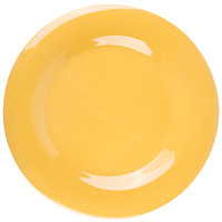 GET WP-10-TY Diamond Mardi Gras 10 1/2 inch Tropical Yellow Wide Rim Round Melamine Plate - 12/Case