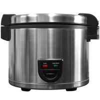 Town 58131 60 Cup (30 Cup Raw) Electric Rice Cooker / Warmer - 220V