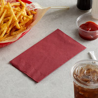 Choice 15 inch x 17 inch Customizable Burgundy 2-Ply Paper Dinner Napkin - 125/Pack