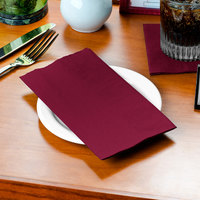 Burgundy Paper Dinner Napkin, Choice 2-Ply, 15 inch x 17 inch - 125/Pack