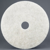 3M 3300 17 inch Natural Blend White Light-Duty Burnishing Floor Pad - 5/Case